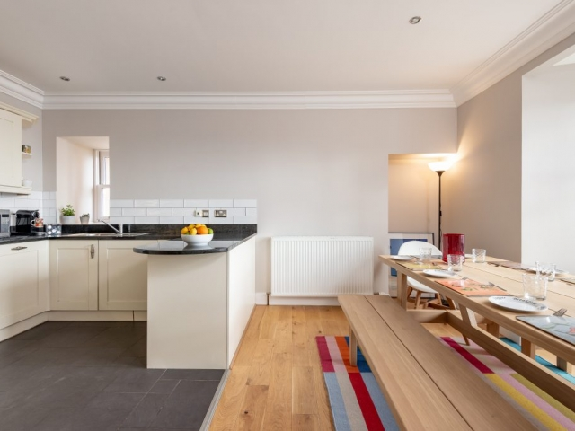 Open plan at Harbour View, Elie